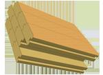 Деревянная клееная стена
